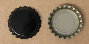 Black (Oxygen Barrier Pry-off) Bottle Caps