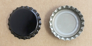 Black Bottle Caps (Universal)