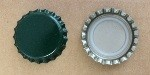 Green Bottle Caps with Liner