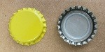 Yellow Bottle Caps with Liner