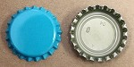 Caribbean Blue (Oxygen Barrier) Bottle Caps with Liner
