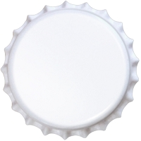 White (Oxygen Barrier Pry-off) Bottle Caps