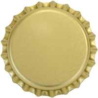 Bright Gold (Oxygen Barrier Pry-Off) Bottle Caps